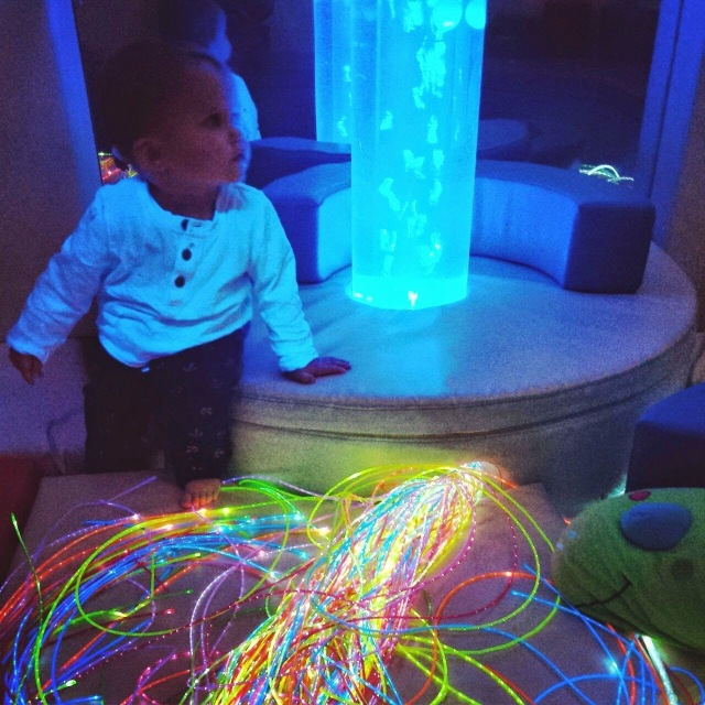 Sensory room at a soft play in Chester